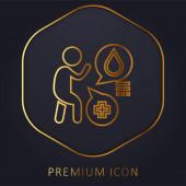 Allergie Golden Line Premium Logo oder Symbol