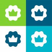 Badge Flat four color minimal icon set