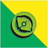 Big Point Kompass Grünes und gelbes modernes 3D-Vektorsymbol-Logo