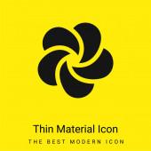 Ájurvéda minimální jasně žlutá ikona materiálu