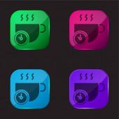 Break four color glass button icon
