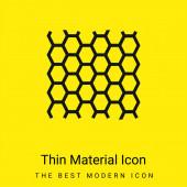 Včelí panel Textura minimální jasně žlutý materiál ikona
