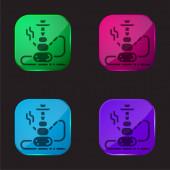 Bong vierfarbige Glasknopf-Symbol