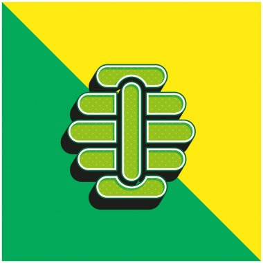 Beehive Green and yellow modern 3d vector icon logo stock vector