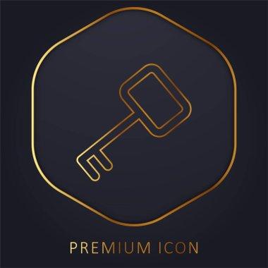 Access Key golden line premium logo or icon stock vector