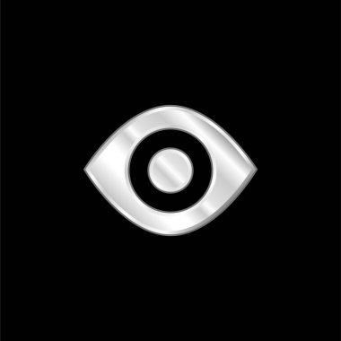 Black Eye silver plated metallic icon stock vector
