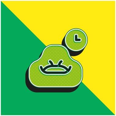 Bean Bag Green and yellow modern 3d vector icon logo stock vector