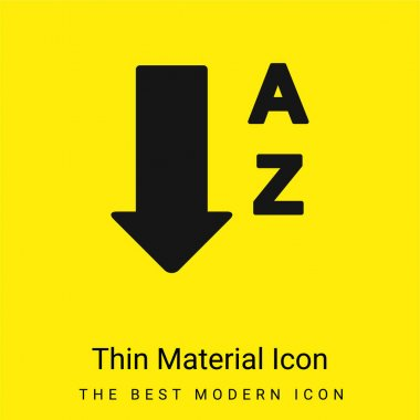 Alphabetical Order From A To Z minimal bright yellow material icon