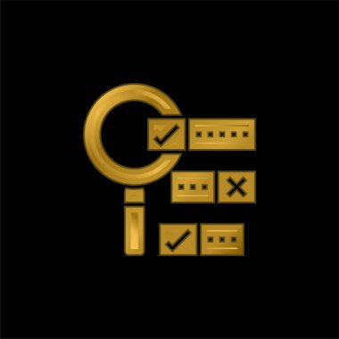 Boolean Search gold plated metalic icon or logo vector stock vector