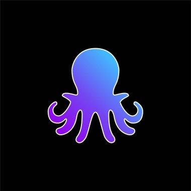 Aquarium Octopus blue gradient vector icon stock vector