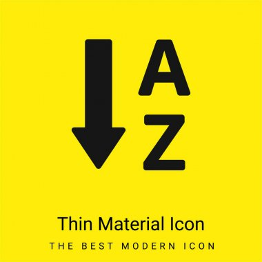 Alphabetical Order minimal bright yellow material icon