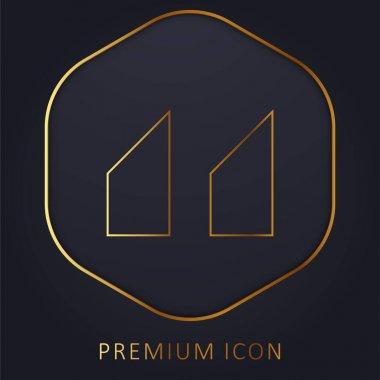 Blocks With Angled Cuts golden line premium logo or icon
