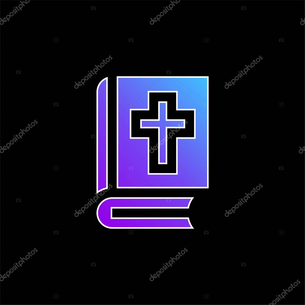 Bible blue gradient vector icon stock vector