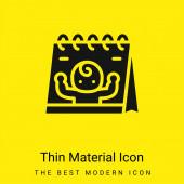 Született minimális fényes sárga anyag ikon