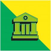Bank Grünes und gelbes modernes 3D-Vektor-Symbol-Logo