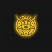 Baphomet žlutá zářící neonová ikona