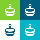 Bad Flache vier Farben minimales Symbol-Set