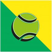 Ball Green a žluté moderní 3D vektorové logo