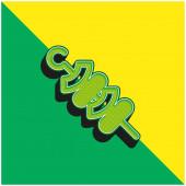 Grilování Zelené a žluté moderní 3D vektorové logo