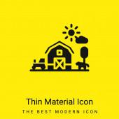Pajta minimális fényes sárga anyag ikon