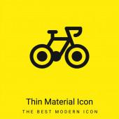 Fahrrad minimal leuchtend gelbes Materialsymbol