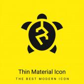 Animal Crelty minimális fényes sárga anyag ikon