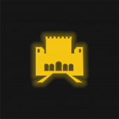 Alhambra žlutá zářící neonová ikona