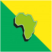 Africa Green and yellow modern 3d vector icon logo
