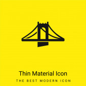 Brücke minimales helles gelbes Materialsymbol
