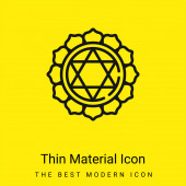 Anahata minimální jasně žlutý materiál ikona