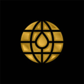 Blutspende vergoldet metallisches Symbol oder Logo-Vektor