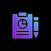 Analytics blue gradient vector icon
