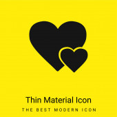 Big Heart And Little Heart minimální jasně žlutá ikona materiálu