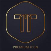 Black Belt arany vonal prémium logó vagy ikon