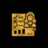 Bewertungsformular vergoldet metallisches Symbol oder Logo-Vektor