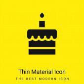 Születésnapi torta minimális fényes sárga anyag ikon