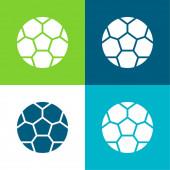 Ball Flat vier Farben minimalen Symbolsatz