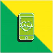 App Zelená a žlutá moderní 3D vektorové logo ikony