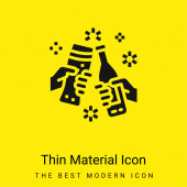 Sörök minimális világos sárga anyag ikon