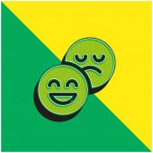 Attitude Zelené a žluté moderní 3D vektorové logo