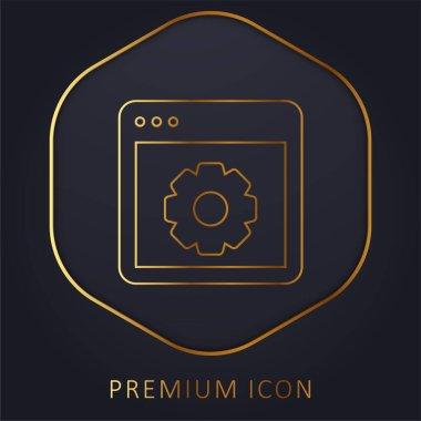 App golden line premium logo or icon stock vector