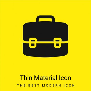 Briefcase minimal bright yellow material icon stock vector