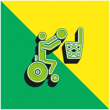 Basketball Green and yellow modern 3d vector icon logo stock vector