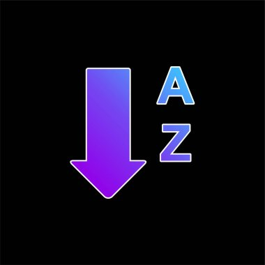 Alphabetical Order From A To Z blue gradient vector icon
