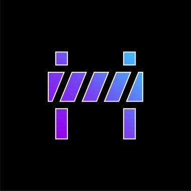 Barrier blue gradient vector icon stock vector