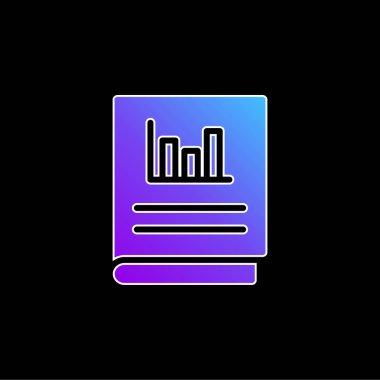 Accounts blue gradient vector icon stock vector