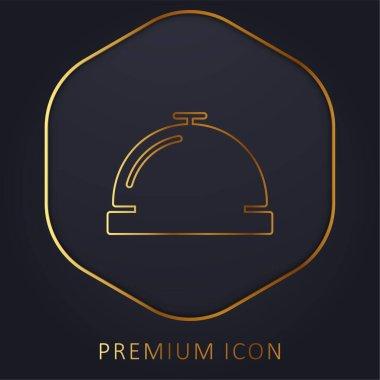 Bell golden line premium logo or icon stock vector