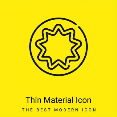 Bahaism minimal bright yellow material icon stock vector