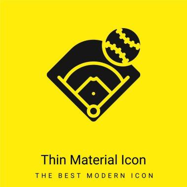 Baseball Field minimal bright yellow material icon stock vector
