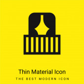 Balkon minimales helles gelbes Materialsymbol